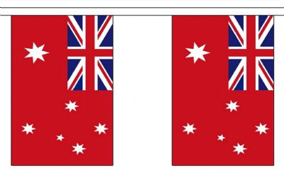 AUSTRALIA RED ENSIGN BUNTING - 9 METRES 30 FLAGS